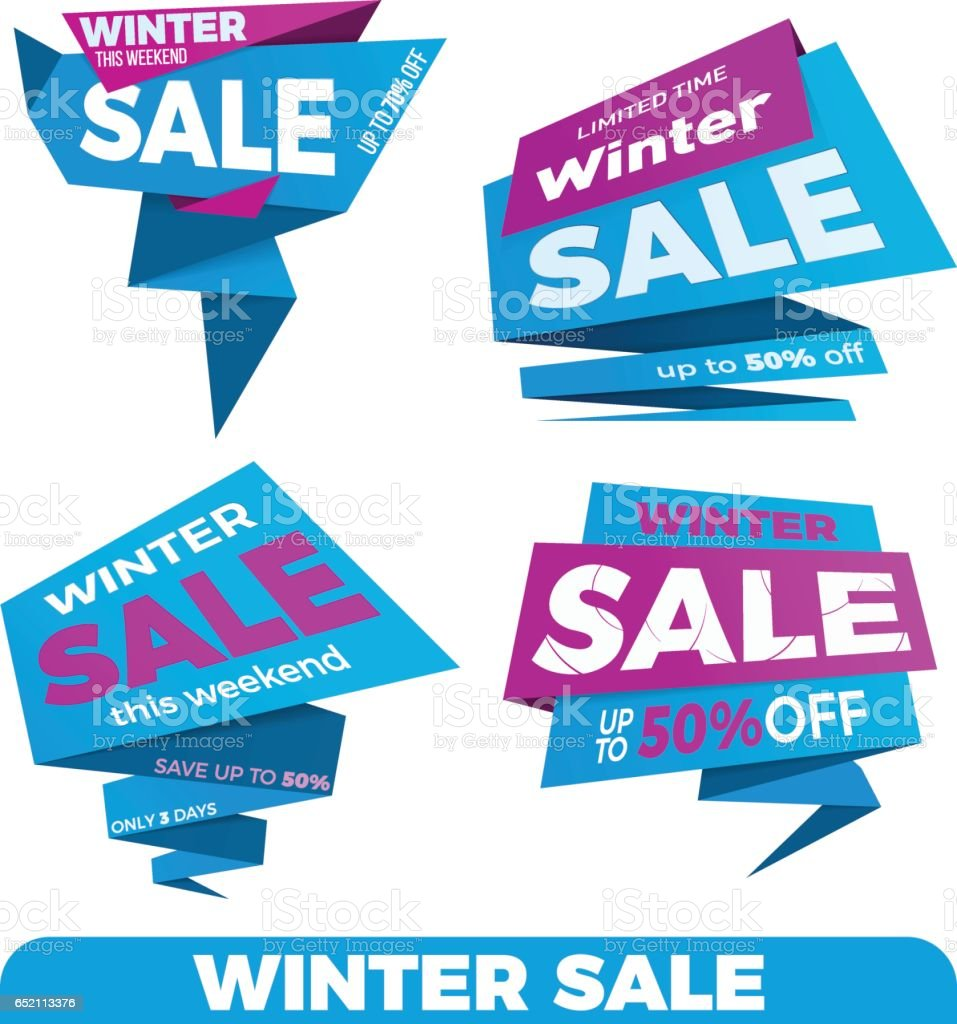 Winter Sale Sale Label Price Tag Banner Badge Template