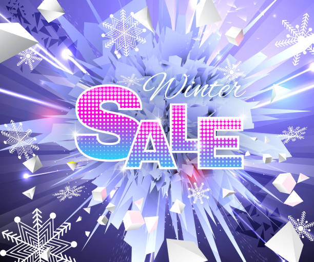 Winter Sale Thema blauen Farben abstrakt banner – Vektorgrafik