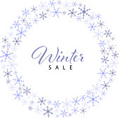 winter sale label banner design