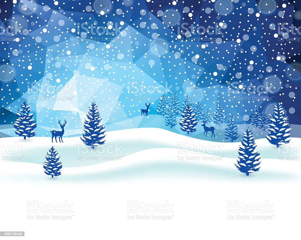 Winter-Szene  – Vektorgrafik