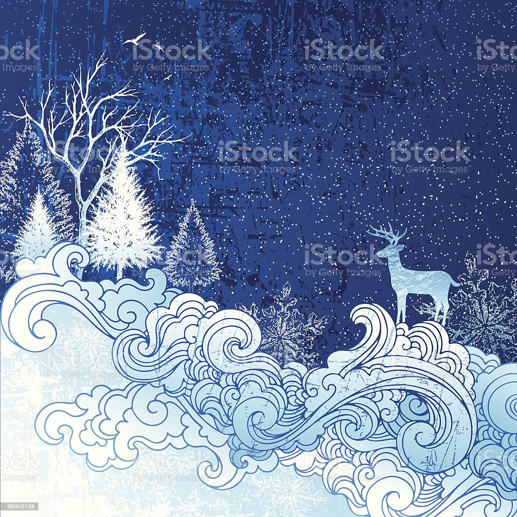 Winter scene royalty-free winter scene stock vector art & more images of animal themes