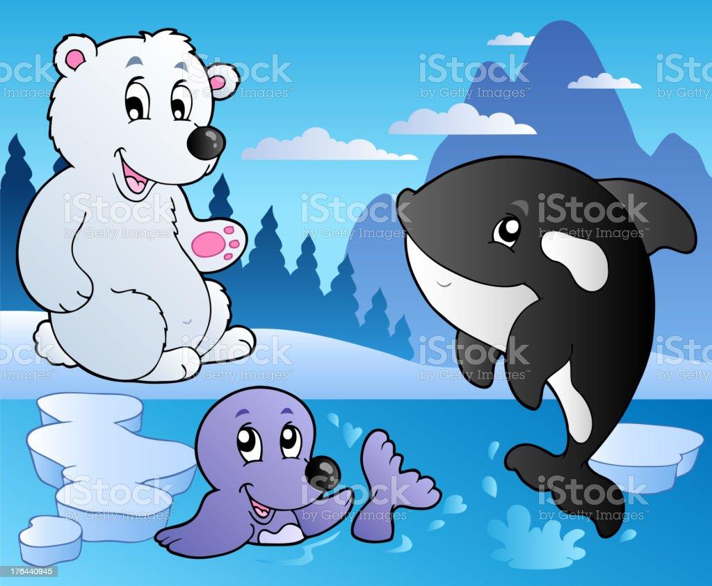 冬の風景様々な動物 3 のイラスト素材 176440945   istock