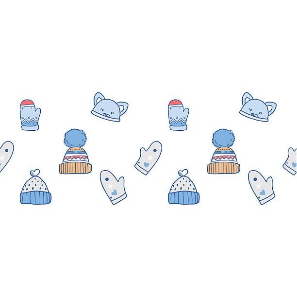 Vectores de Gorros Para Bebé De Ganchillo y Illustraciones Libre de ...