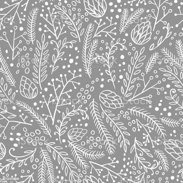 Winter seamless pattern hand drawn conifers fir larch juniper pine vector id870044568?b=1&k=6&m=870044568&s=612x612&h=71tzjkdhlkje7 vbb1gsee3dwftbnaizy  jgwy69va=