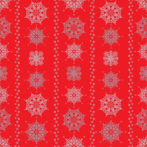 Winter Seamless Pattern vector art illustration