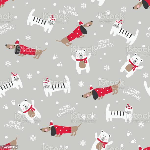 Winter seamless pattern with cute cats dogs and bears vector id1027280842?b=1&k=6&m=1027280842&s=612x612&h=vzwcbmxvvsiztuhjrg9ywkebfdax9z0b6ghw 8bbils=