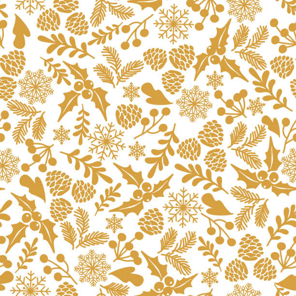 Winter seamless  pattern with holly berries. Winter seamless  pattern with holly berries. Part of Christmas backgrounds collection. Can be used for wallpaper, pattern fills, surface textures,  fabric prints. christmas patterns stock illustrations