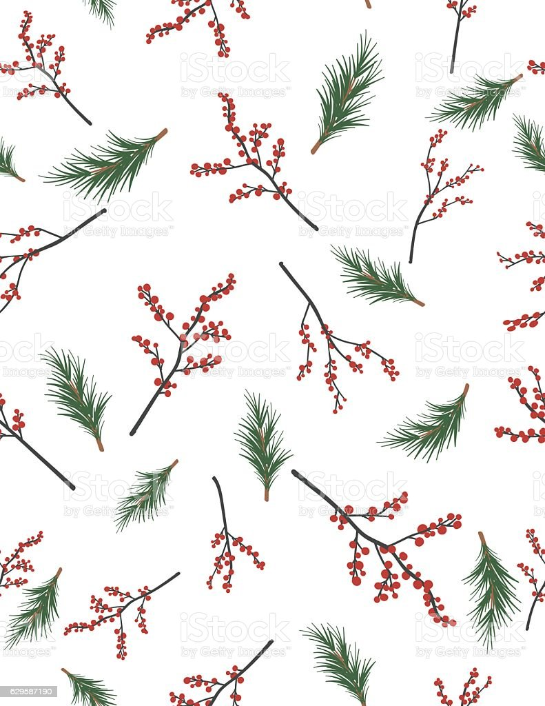 Winter Seamless Patterns vector art illustration