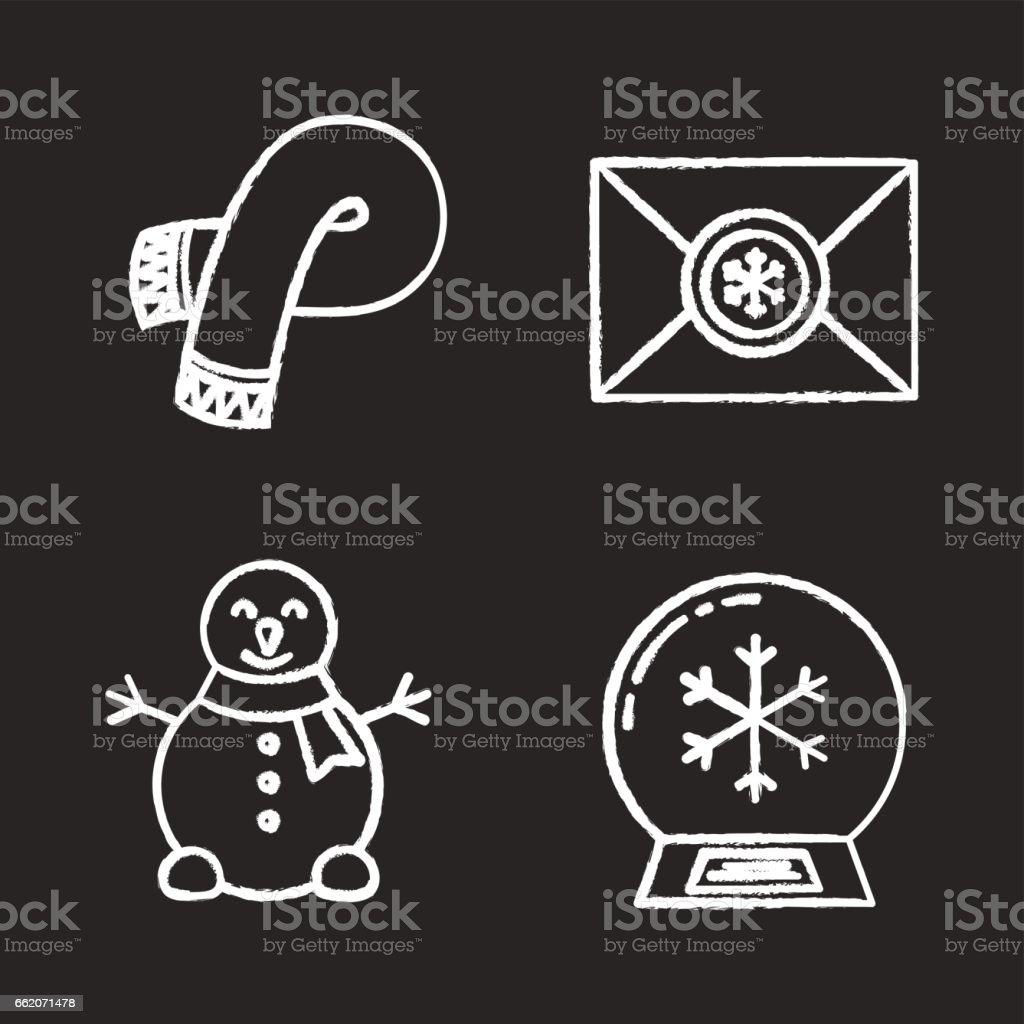 Winter season icons royalty-free winter season icons stock vector art & more images of blackboard