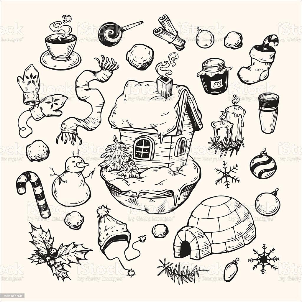 Winter Season. vector art illustration