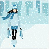 Fashionable woman walking on snow steet after shopping  ZIP archive includes ai8  [url=http://www.istockphoto.com/file_search.php?action=file&lightboxID=3161484 t=_blank][img]http://img.photobucket.com/albums/v179/VIPrincess/1fash.jpg[/img][/url]