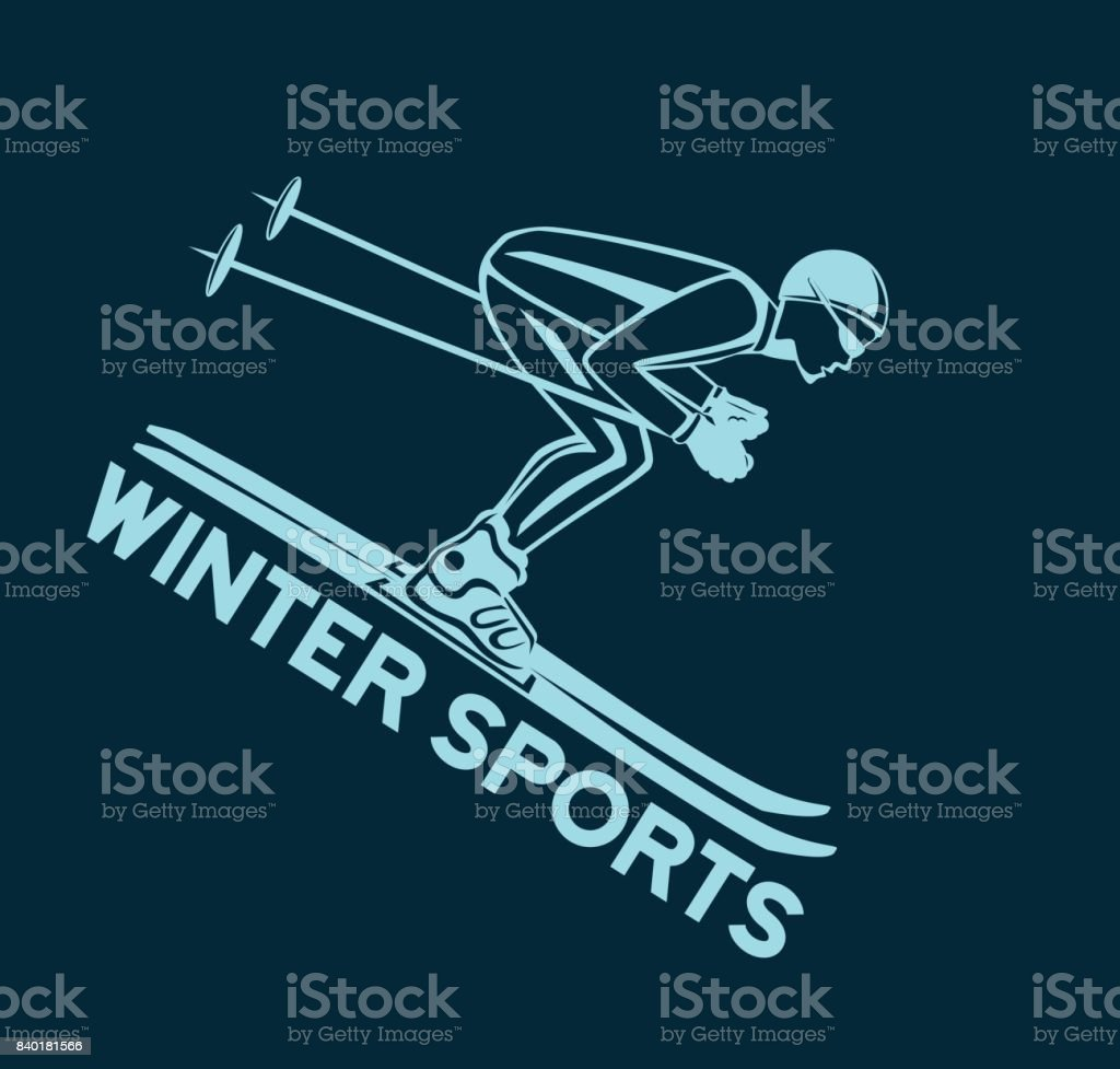 Winter Skiing Sport silhouette