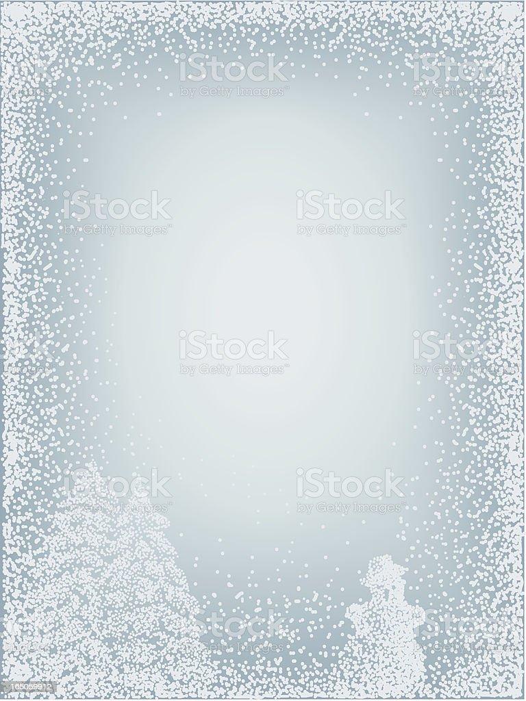 Winter snow background vector art illustration