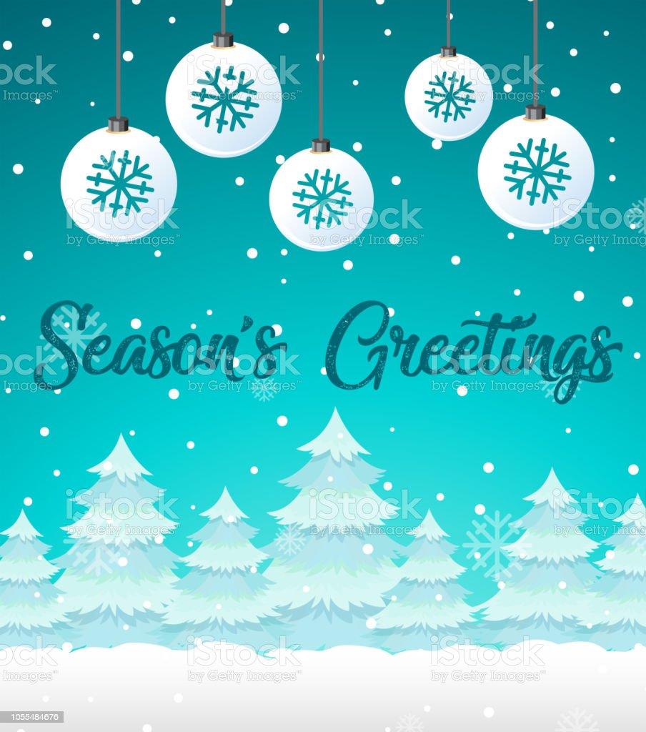 Winter Schnee Weihnachten Vorlage Stock Vektor Art und mehr Bilder ...