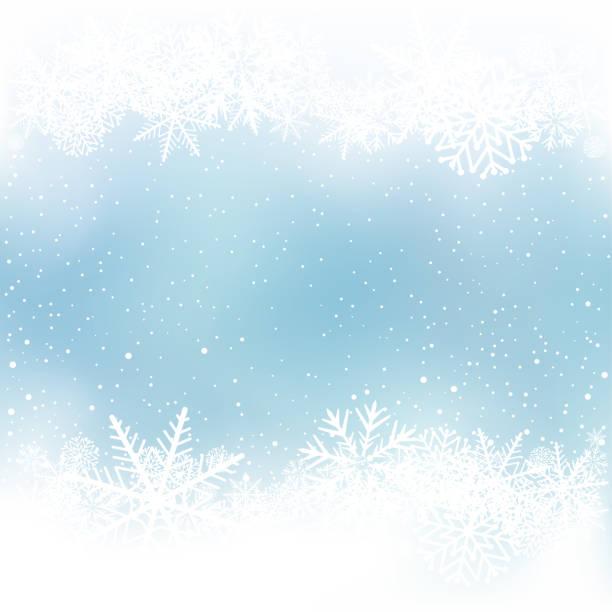 ilustrações de stock, clip art, desenhos animados e ícones de winter snow frame blue background - background christmas snow