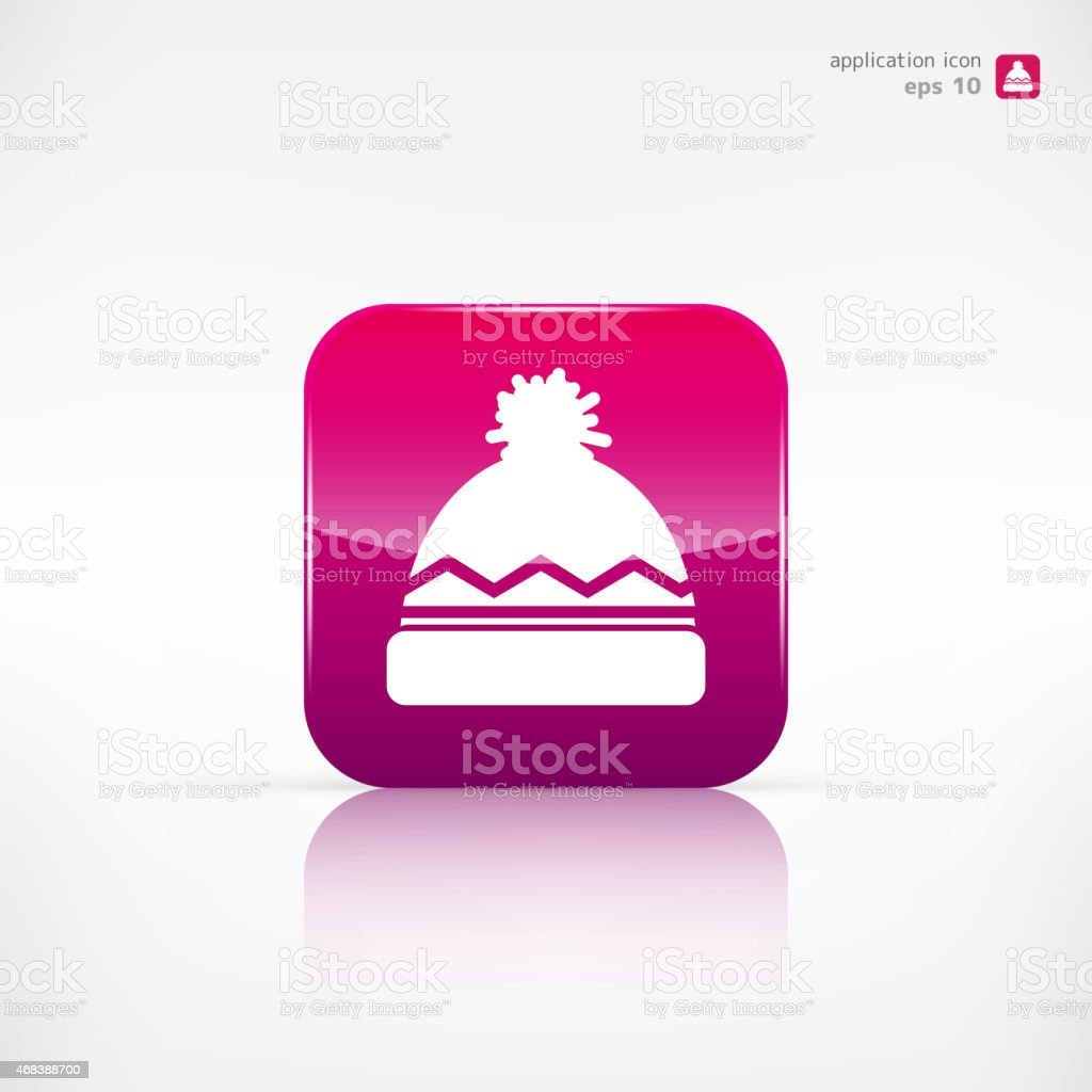 2d24bbe955f Winter snowboard cap icon royalty-free winter snowboard cap icon stock  vector art  amp