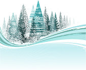 drawing of vector winter snow capped sign.This file was recorded with adobe illustrator cs4 transparent.EPS10 format.