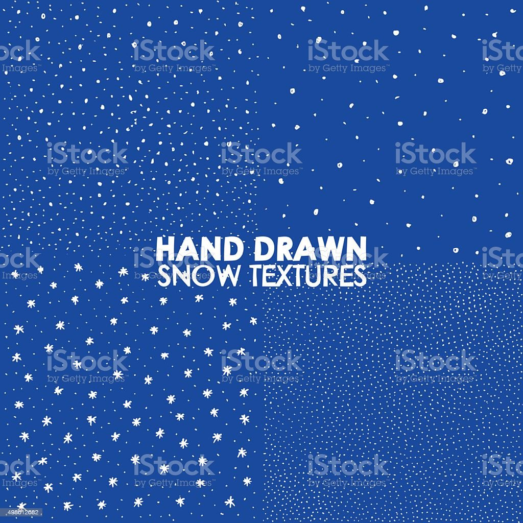 Winter snowfall hand drawn spray texture.