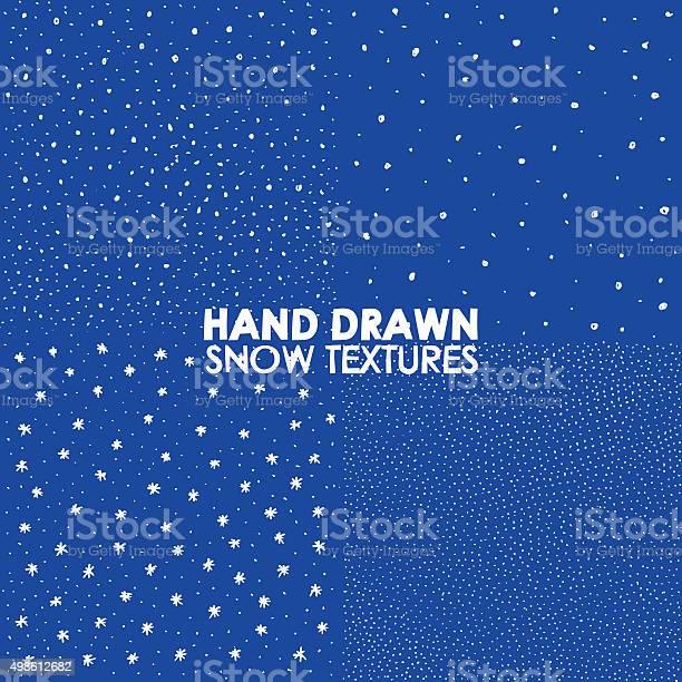 Zimą Śniegu Rysowanych Ręcznie Spryskaj Fakturę - Stockowe grafiki wektorowe i więcej obrazów 2015