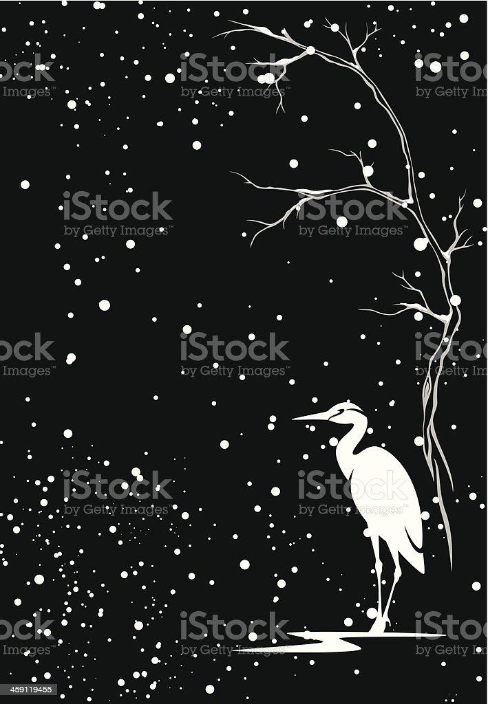 Neve invernale - illustrazione arte vettoriale