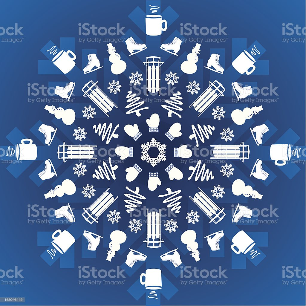 Winter Snowflake Explosion royalty-free stock vector art