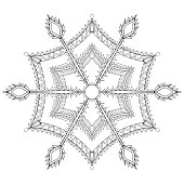 Winter snowflake for Christmas, New Year. Fre
