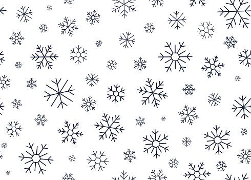 Winter Snowflake Line Background