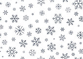 istock Winter Snowflake Line Background 1271945944