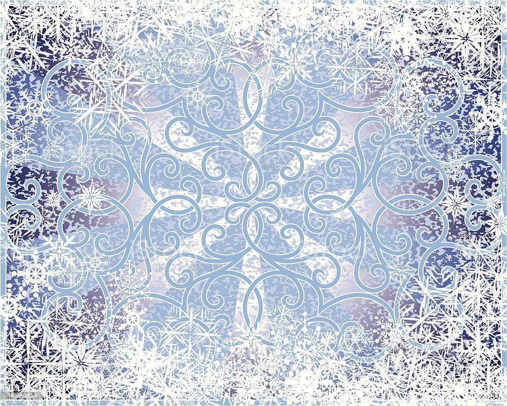 Snowflakes Scroll fondo de invierno ilustración de snowflakes scroll fondo de invierno y más banco de imágenes de anticuado libre de derechos