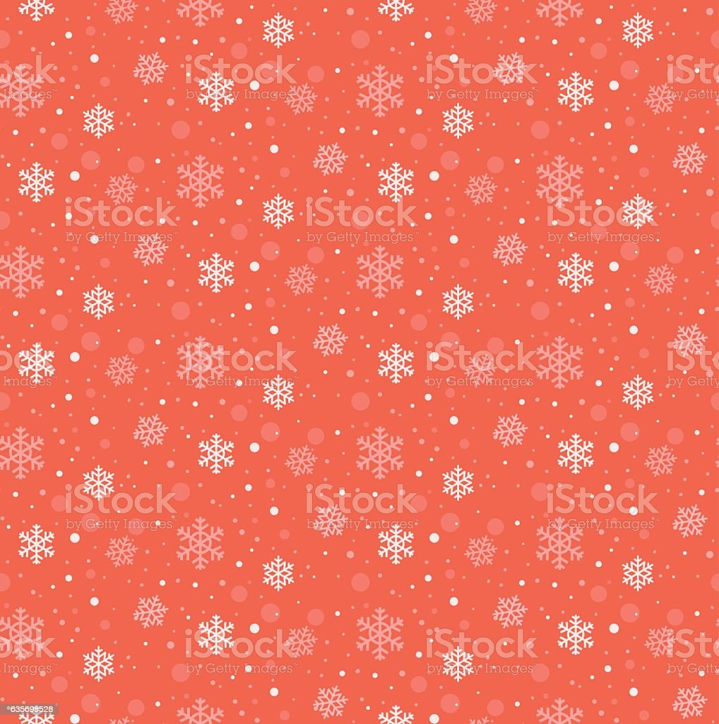 Winter snowflakes seamless vector pattern in flat design style royalty-free winter snowflakes seamless vector pattern in flat design style stock vector art & more images of abstract