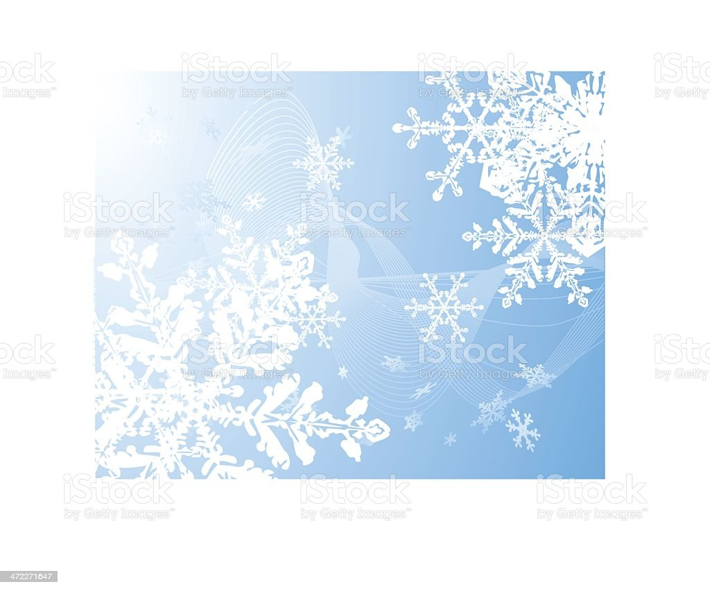 Winter snowflakes royalty-free stock vector art