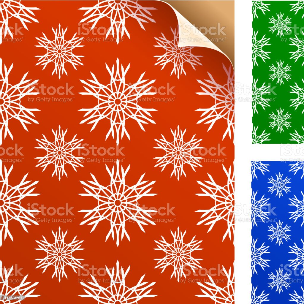 Winter snowflakes wrapping gift paper royalty-free winter snowflakes wrapping gift paper stock vector art & more images of at the edge of