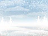 Winter snowy rural landscape