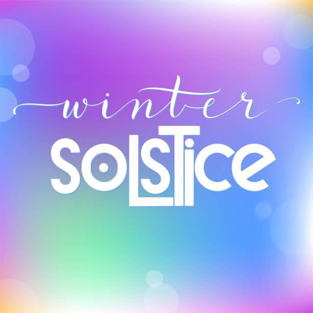 winter-sonnenwende-schriftzug. - schneeflocke sonnenaufgang stock-grafiken, -clipart, -cartoons und -symbole