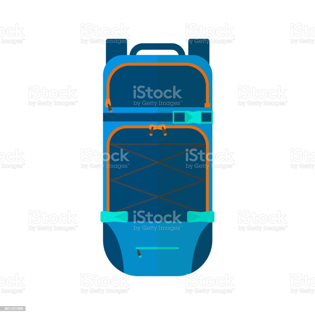 ef9cfab98886 Winter sport icon of backpack. Skiing and snowboarding set equipment -  Illustration .