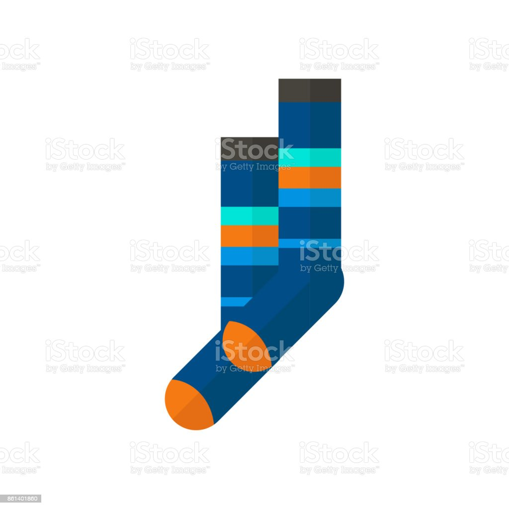 Winter sport icons of socks. Skiing and snowboarding sportwear...