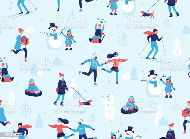 Winter sports outdoors seamless pattern people having fun and winter vector id1070615772?b=1&k=6&m=1070615772&s=612x612&h=fxiichegrznajzuyuhpc7sgpzmukuhtivxevnwgvsnq=