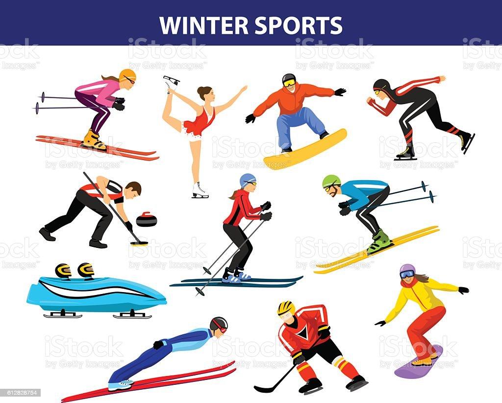 royalty free winter sport clip art vector images illustrations rh istockphoto com winter sports cartoon clipart Winter Fun Clip Art
