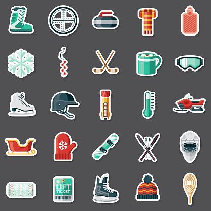 Winter Sports Sticker Set