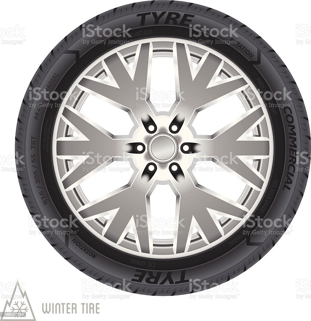 Winter tire abstract illustration royalty-free stock vector art