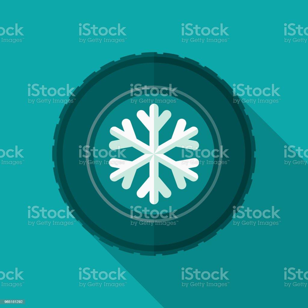 Winter Tires Flat Design Icon with Side Shadow winter tires flat design icon with side shadow - stockowe grafiki wektorowe i więcej obrazów bez ludzi royalty-free