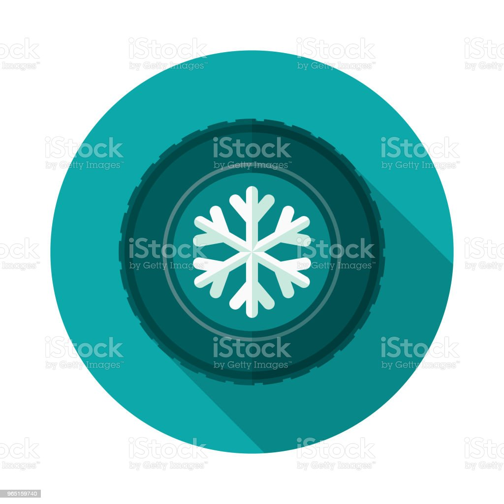 Winter Tires Flat Design Icon with Side Shadow royalty-free winter tires flat design icon with side shadow stock illustration - download image now