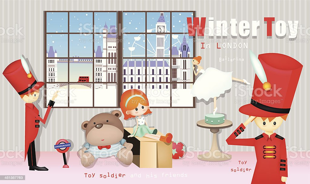 Winter Toy royalty-free winter toy stock vector art & more images of ballet dancer