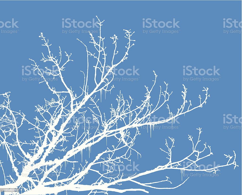 winter tree royalty-free stock vector art