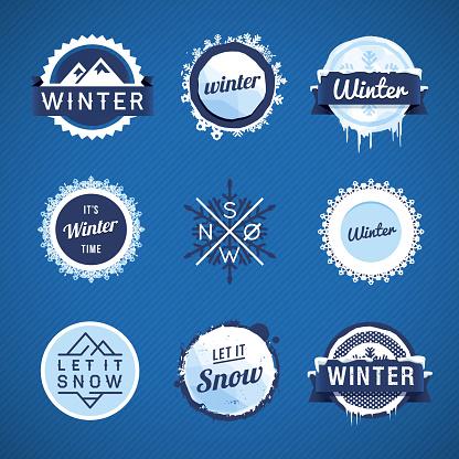 Winter Vector Badges