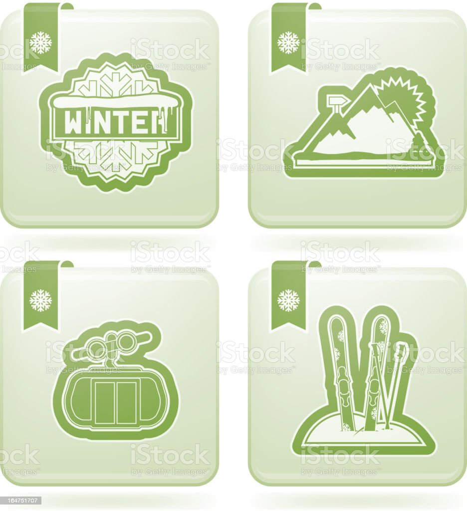 Winter royalty-free winter stock vector art & more images of cable car