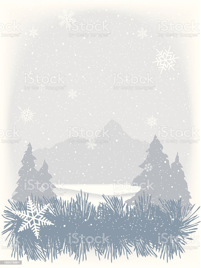 Winter vignette background vector art illustration