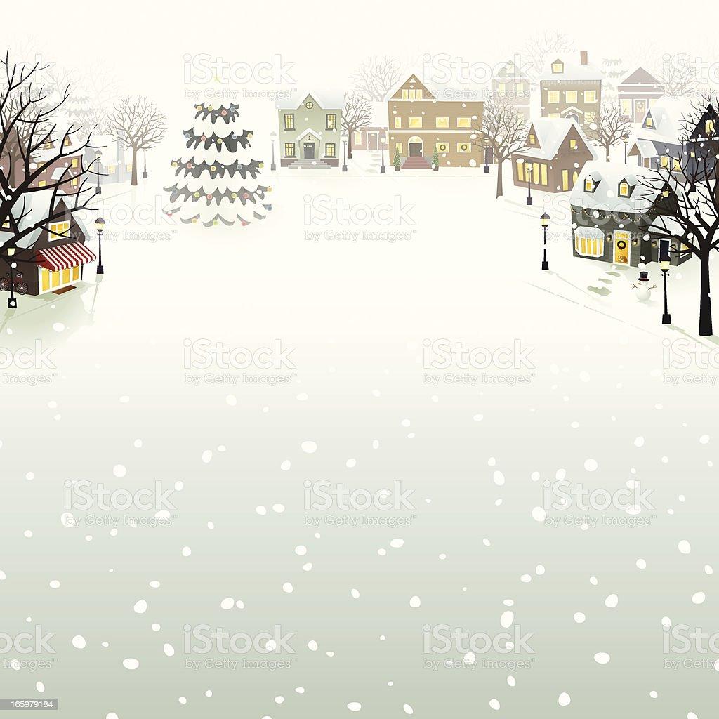 Winter Village - EPS8 royalty-free winter village eps8 stock vector art & more images of cartoon