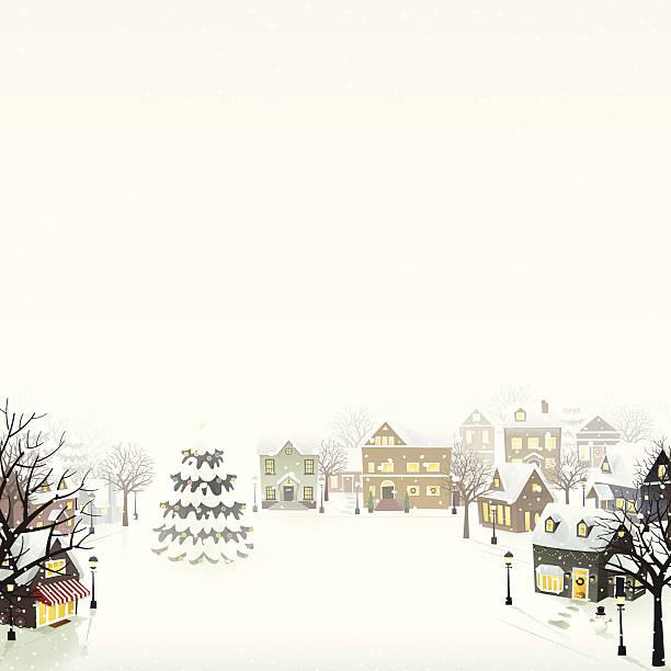 Winter Village - EPS8 vector art illustration
