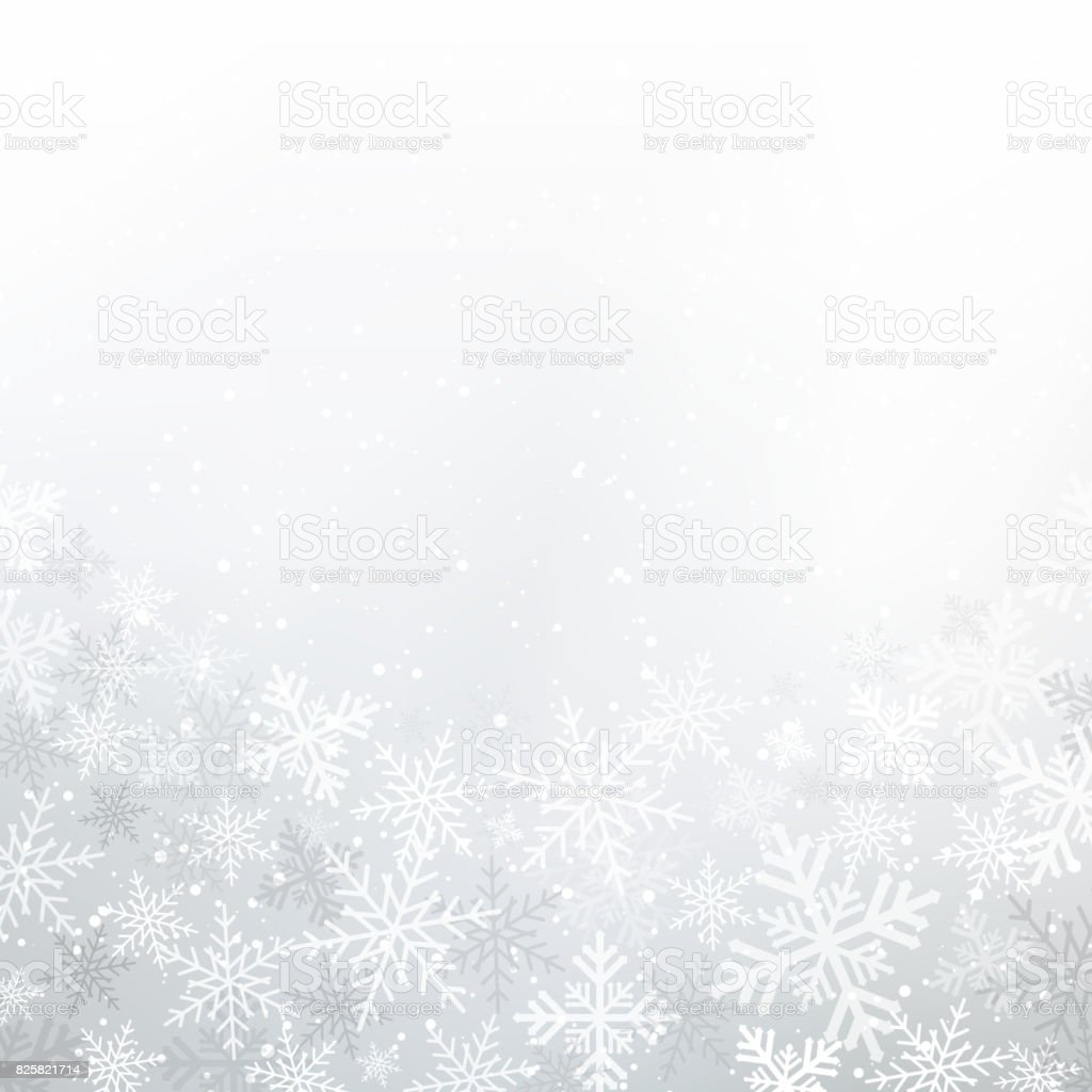 Winter white background christmas made of snowflakes and snow with blank copy space for your text, Vector vector art illustration